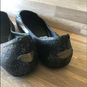 Jimmy Choo Shoes - Jimmy Choo Glitter Ballerina Flats 37 1/2